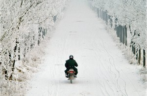 Motorcycleinsnow